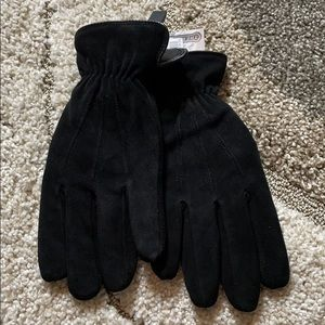 Thermolite® black suede Gloves